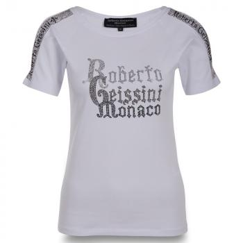 Roberto Geissini T-Shirt Monaco Women weiss